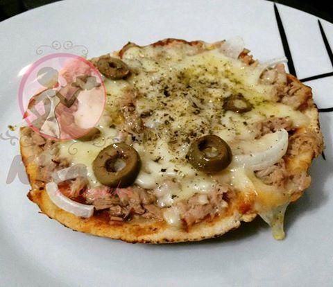 pizza pão sírio