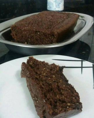 bolo de cacau e farelo de aveia
